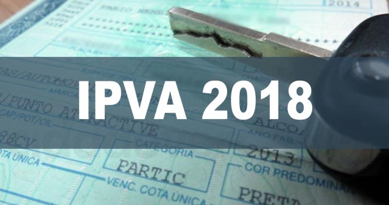 Segunda parcela do IPVA 2018 começa a vencer nesta quinta-feira (15/2)