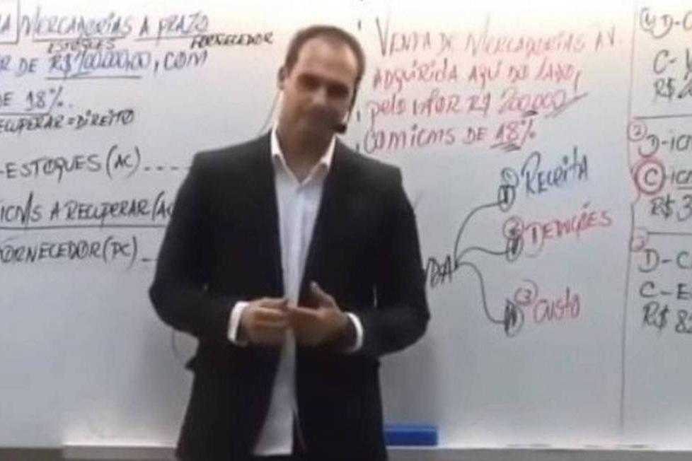 Eduardo Bolsonaro responde na justiça ameaça a jornalista