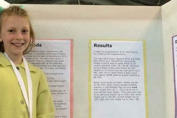 Jovem Cientista de 13 anos descobre risco para audição de crianças em secadores de mãos