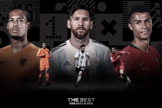 """Messi, Cristiano Ronaldo e Van Dijk são os finalistas do """"The Best"""""""