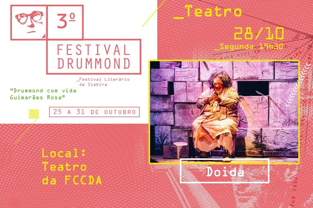 """Itabira recebe peça teatral """"Doida"""" nesta segunda-feira"""
