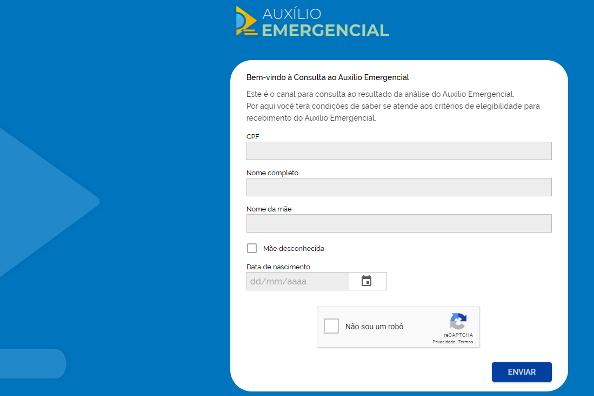 Dataprev e Ministério da Cidadania lançam portal de consulta à situação do auxílio emergencial