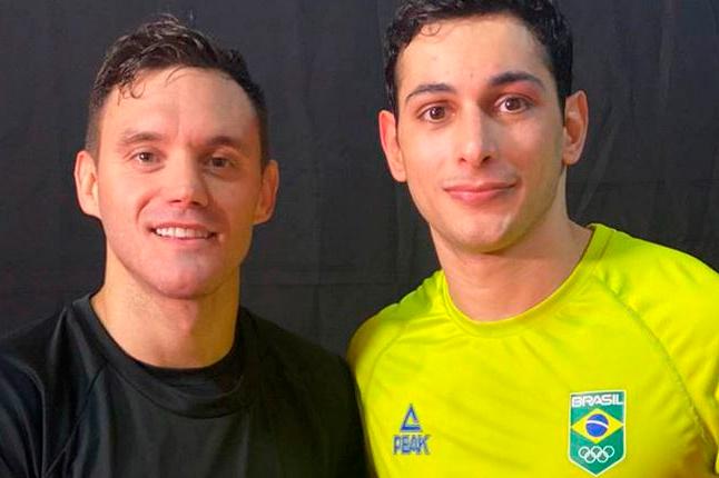 Para estar em Tóquio, dois caratecas brasileiros treinam juntos em SC