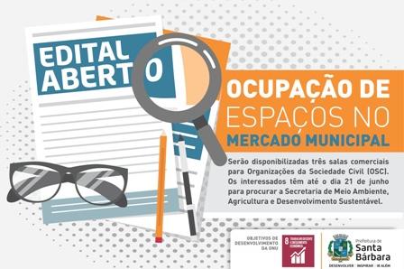 Prefeitura abre edital para ocupação de espaços no Mercado Municipal