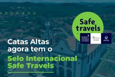 """Catas Altas agora tem o selo internacional """"Safe Travels"""""""