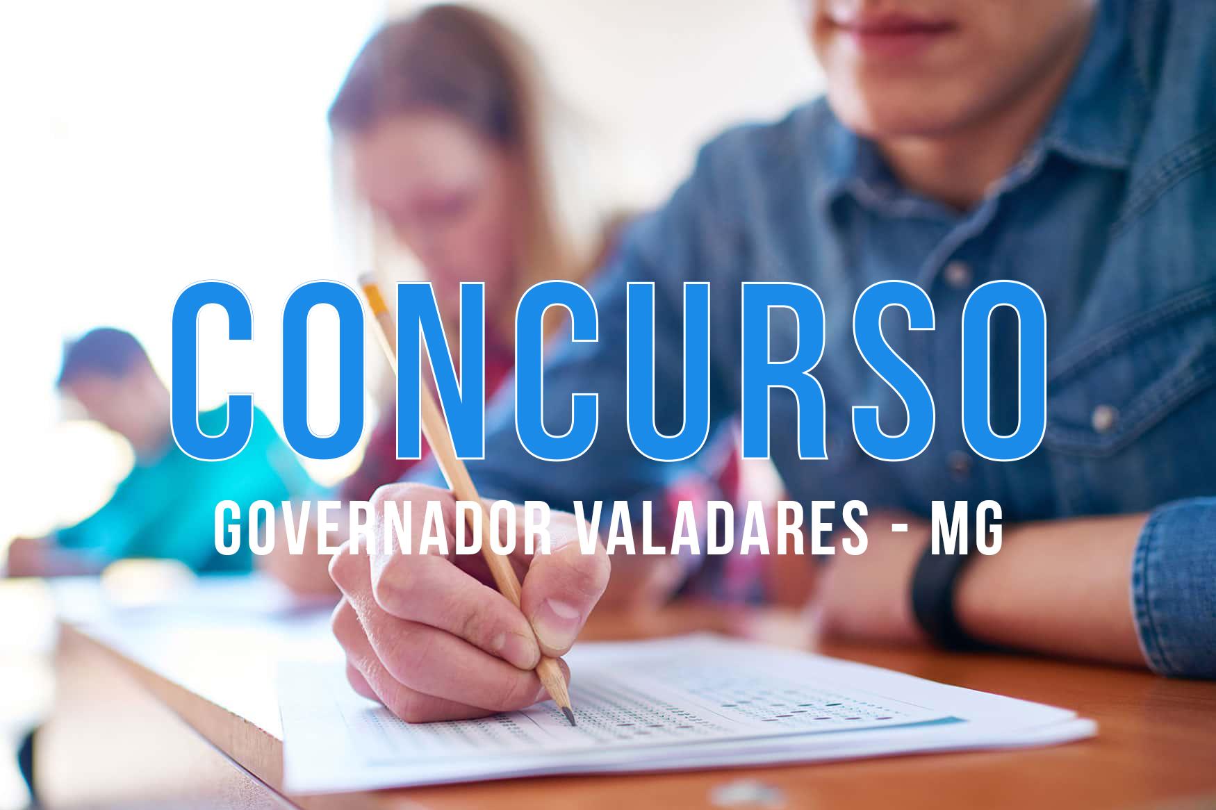 Concurso Governador Valadares - MG: Prefeitura publica editais