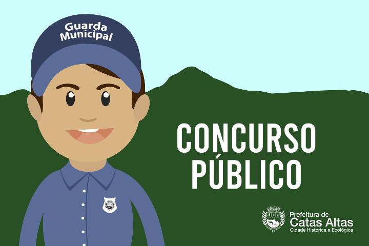 Prefeitura de Catas Altas reabre inscrições para concurso da Guarda Municipal