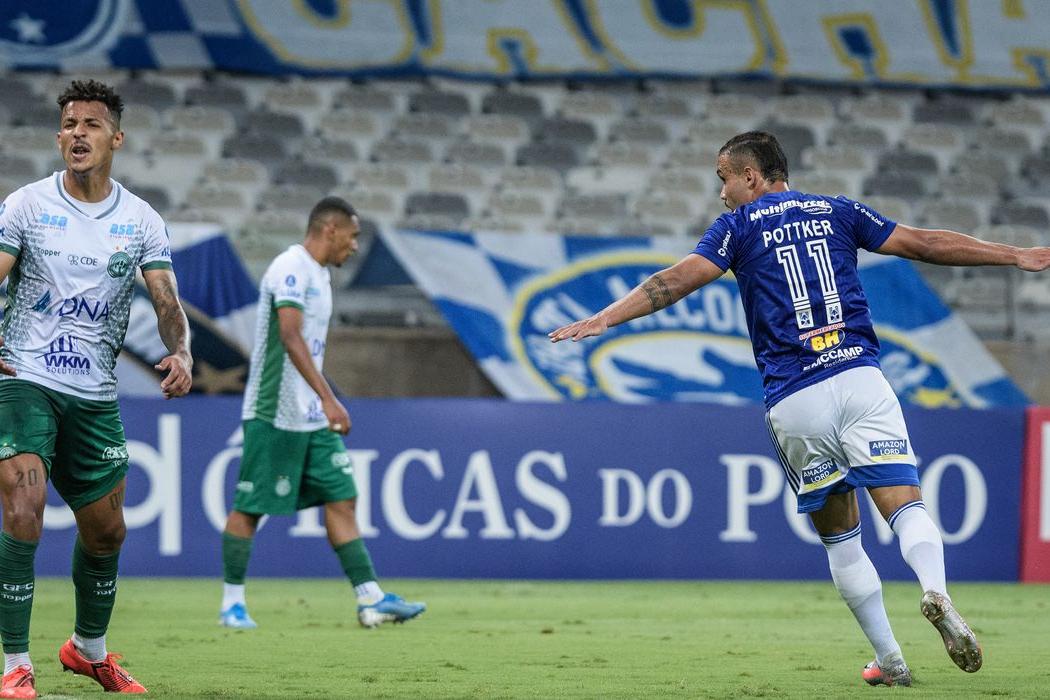 Em jogo de seis gols, Cruzeiro e Guarani empatam no Mineirão