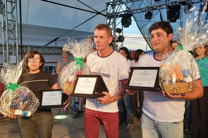 Vinhos Gercina, Neli de Souza e Morro D'Água Quente são os vencedores da XIX Festa do Vinho de Catas Altas