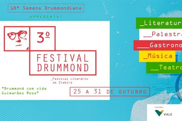 Festival Drummond e 18ª Semana Drummondiana começam nesta sexta-feira