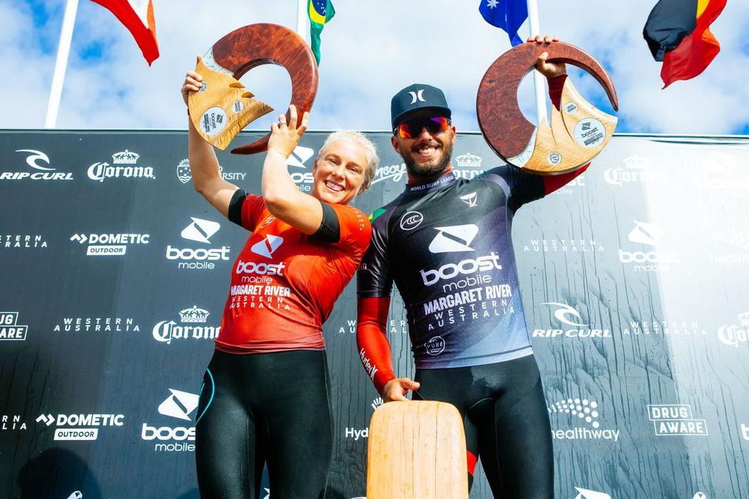 Surfe: com dobradinha, Brasil domina topo do pódio em Margaret River