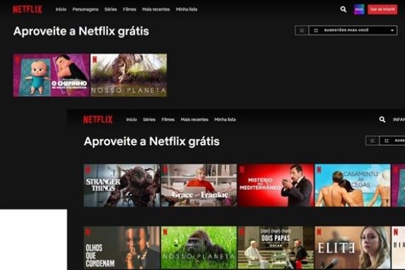 Netflix disponibiliza filmes e séries grátis para não assinantes