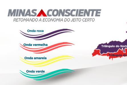 Governo cria onda roxa no Minas Consciente e decreta fechamento em duas regiões do estado