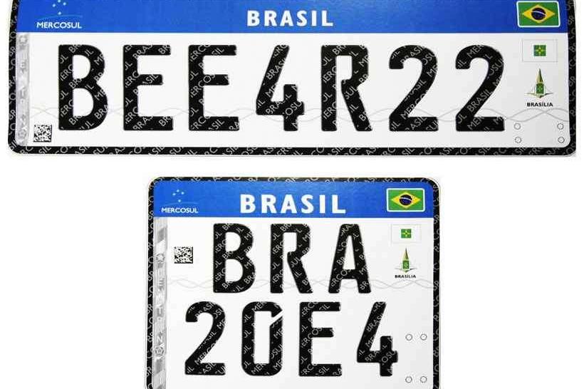 Novas placas com padrão Mercosul serão obrigatórias a partir de 31 de janeiro